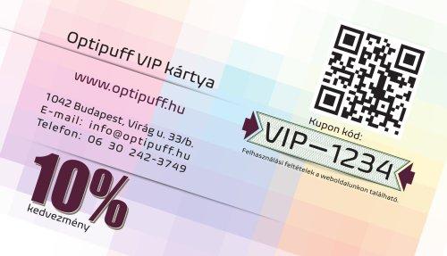 Optipuff VIP kedvezmény kártya