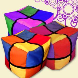 Színes kocka puff (2X2)